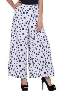 Deewa Regular Fit Women's White Trousers