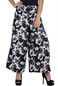 Deewa Regular Fit Women's Black Trousers