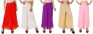 RoseBella Regular Fit Women's Red, White, Purple, Beige, Pink Trousers
