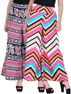 Deewa Regular Fit Women's Multicolor Trousers