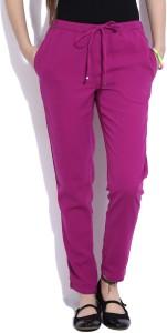 United Colors of Benetton Regular Fit Women's Purple Trousers