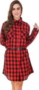 Brandmeup Checkered Women's Tunic