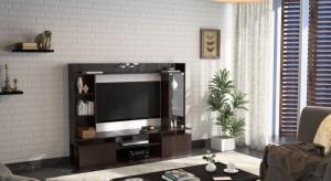 89762091271 Urban Ladder Celestin Engineered Wood TV Entertainment UnitFinish Color - Dark  Oak