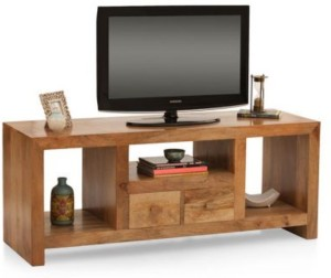 Home Edge Solid Wood TV Entertainment Unit