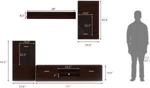 c8402d1718a Urban Ladder Ferdinand 1 Entertainment Engineered Wood TV Entertainment  UnitFinish Color - Dark Oak