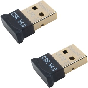 Outre SET OF 2PC 3Mbps 20M Ultra-Mini Bluetooth CSR 4.0 Dongle USB Adapter