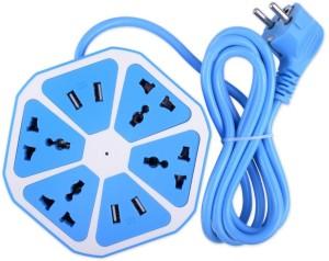 Transformer Socket-4x Hexagon Power Socket Extension USB Charger