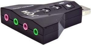 HOC Virtual 7.1 Channel Sound Audio adapter & 4 in 1 Sound Card