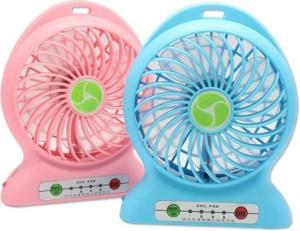 Shopimoz Pack of 2 Mini Wireless Rechargeable USB Fan