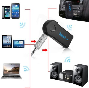 VibeX VBX-106 ™ Wireless 4.1 Car Receiver 3.5mm Music Stereo Aux Audio Speaker Adapter Bluetooth
