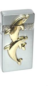 AdorBella Silver fish design with stone windproof z1 Cigarette Lighter