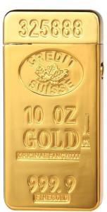 Smiledrive Gold Bar Shaped Flameless Gold-Bar07 Cigarette Lighter