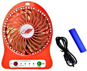 NRTRADING Hi - Speed Portable, Battery Operated Powerful Rechargeable USB Fan