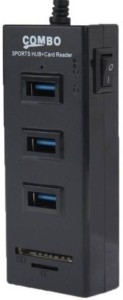 VU4 3-Port SD Combo With Switch For PC Laptop USB Hub