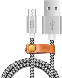 STA Fast Charging Nylon Braided Fast Charge & Data Sync. USB Cable, USB Charger