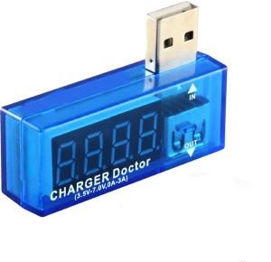 Shrih Current Voltage Meter With Display VoltMeter SH - 01239 USB Charger