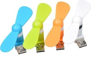Cyxus USB Micro 2 In 1 Mini Mobile Phone Portable Flexible USB Fan Combo Of 4 USB Fan