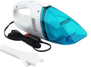 CheckSums 11600 12V Portable Car Vacuum Cleaner with High Power Suction- Blue Car Vacuum Cleaner