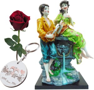3c34117584 SKY TRENDS Valentine Glorious Gift Set Statue Of Lover s Keychain With Rose  Best Gift For Girlfriend Best Price in India   SKY TRENDS Valentine  Glorious ...