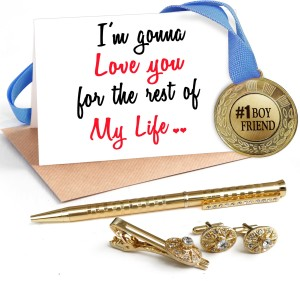 Tiedribbons Valentine Day Best Gifts For Bf Combo Pack Golden