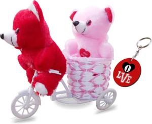 Sky Trends Love Couple Teddy Basket Cycle Valentine Romantic Teddyss