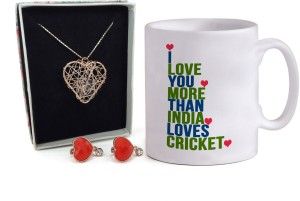 Tiedribbons Valentine Gift Combo For Girlfriend Combo Pack Coffee