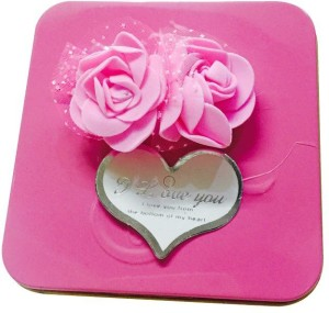 Priyankish Pink Rose Valentine Gift Box Showpiece Gift Set Best