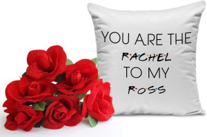 Tiedribbons Birthday Gifts For Girlfriend Bunch Of 6 Artificial Red Roses And Cushion 12 Inch X I Best Price In India