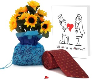 Tiedribbons Valentine Day Best Gifts For Bf Flower Sack With