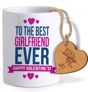 Tiedribbons Gifts For Valentines Day Coffee Mug With Wooden Tag Mug