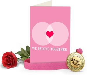 Tiedribbons Valentines Day Gifts for Girl Valentine s Special Greeting Card with Golden Medal and Re Best Price in India | Tiedribbons Valentines Day Gifts ...