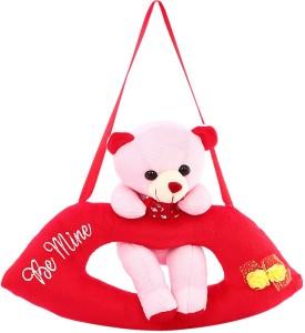 DealBindaas Lip Cute Bear Valentine Stuff Teddy Pink  - 280 mm