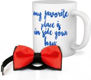 493c4fa944796 Tiedribbons Gifts for Him for Valentines Day Valentine s Special Coffee Mug  with Men s BowTie Mug Gi Price List