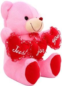 DealBindaas Tri Heart Ruby Bear Ilu Valentine Stuff Teddy  - 300 mm