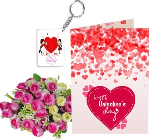 SKY TRENDS Velentinetine Day Girlfriend Boyfriend Birthday Stgs029 Greeting Card Gift Set