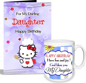 Alwaysgift Happy Birthday My Daughter Mug With Card Hamper Greeting Gift Set Best Price In India
