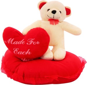 DealBindaas Standing On Heart With Dil Valentine Stuff Teddy  - 270 mm