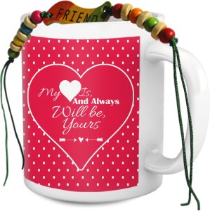 Tiedribbons TIED RIBBONS Perfect Valentine Gift For Girl Friend Boy Lovers Mad In Love Birthday Dates Romance Friendship Propose Set Mug