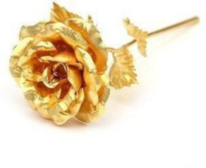 Bajya Golden Rose Valentine Gift Showpiece 15 Cm Gold Plated Gold