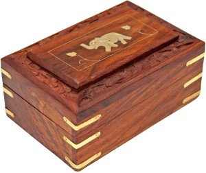 Rgrandsons Handmade Wooden Jewellery Box Organizer Elephant On Frame