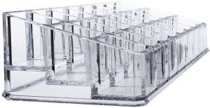 Kaanchi Acrylic Cosmetic Organizer 24 Partition Vanity Box for Makeup Jewellery Precious Metal Storage Case Makeup, Jewellery Vanity Box