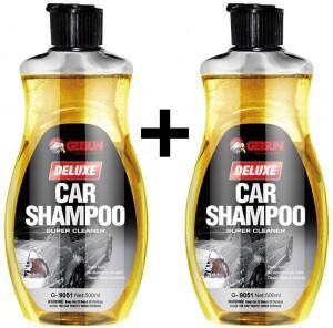 GetSun Auto Deluxe Shampoo - Super Cleaner - Power Foam Car Washing Liquid - With Lemon Fragrance - 2 X 500ml - G-9051 Liquid Vehicle Glass Cleaner