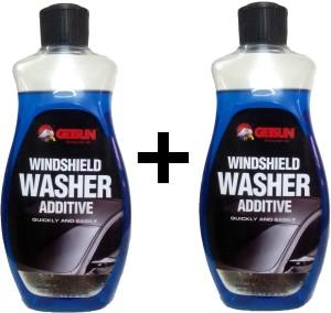 GetSun - Windshield Washer Additive - Anti-Mist and Anti-Freeze Liquid Cleaner - 2 X 500ml - G1019A Liquid Vehicle Glass Cleaner