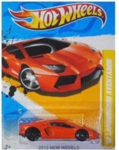 Hot Wheels 2012 New Models '12 Lamborghini Aventador Orange 12/247