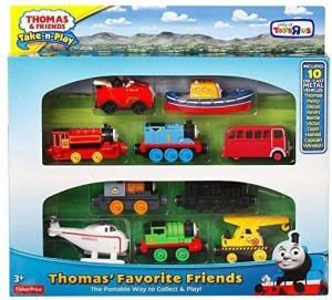 2140904a9222 Fisher-Price Thomas & Friends Take-n-Play Exclusive THOMAS' FAVORITE  FRIENDS 10-Die-cast Vehicle Gift SetMulticolor