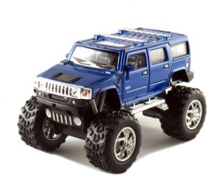 kinsmart monster hummer h2 metal blue best price in india kinsmart