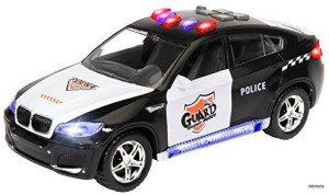 Memtes Electric Police Car Toy For Kids With Flashing Lights And