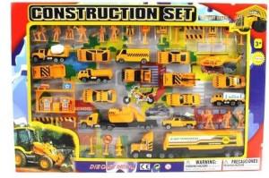 Metro Complete Construction Crew 43 Piece Mini Diecast Play Yellow