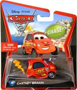 Disney 2012 Pixar Movie Cars 2 40 Cartney Brakin Chase Car Red Best