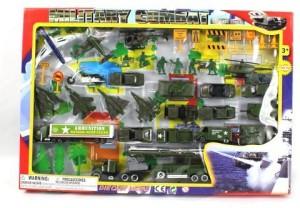Metro Army Military Combat 43 Piece Mini Diecast Play Set Black Best